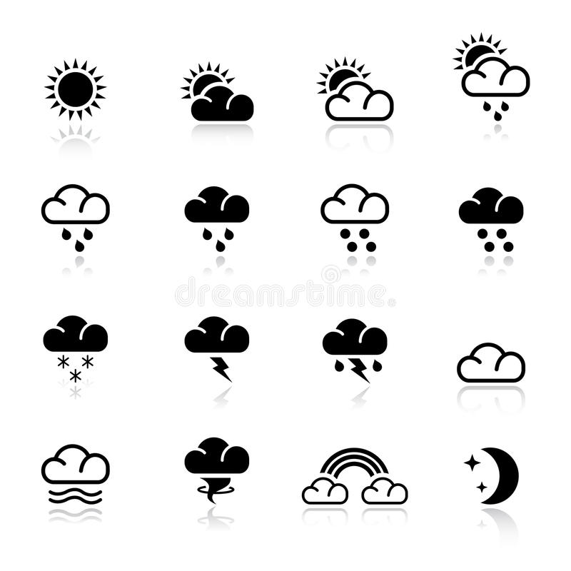 Download Basic - Weather stock vector. Image of moon, flake, atmospheric - 20336697
