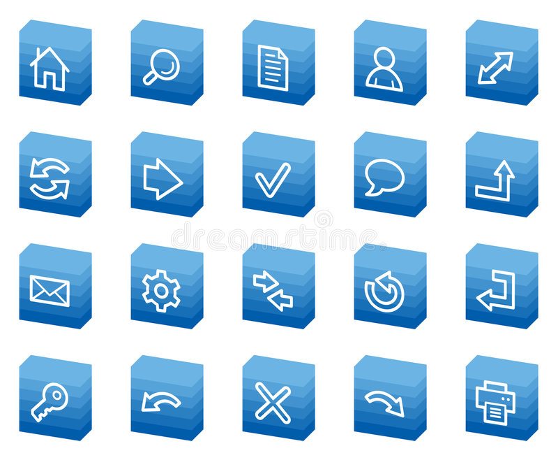 Download Basic Web Icons, Blue Box Series Stock Photos - Image: 8956493