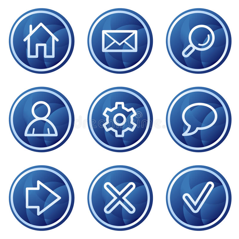 Download Basic Web Icons, Blue Circle Buttons Series Stock Illustration - Illustration of buttons, internet: 9785025