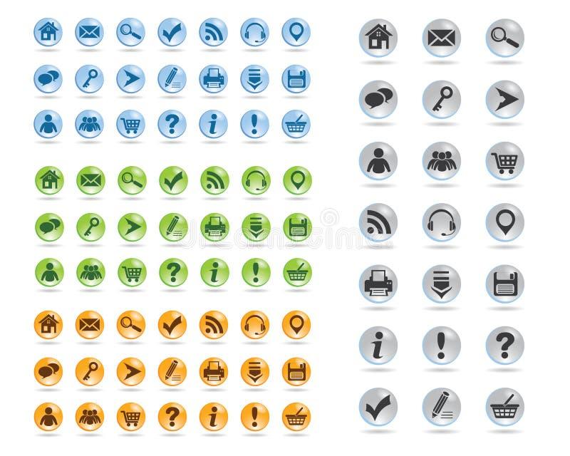 Download Basic web icons set #11 stock vector. Illustration of user - 26556905