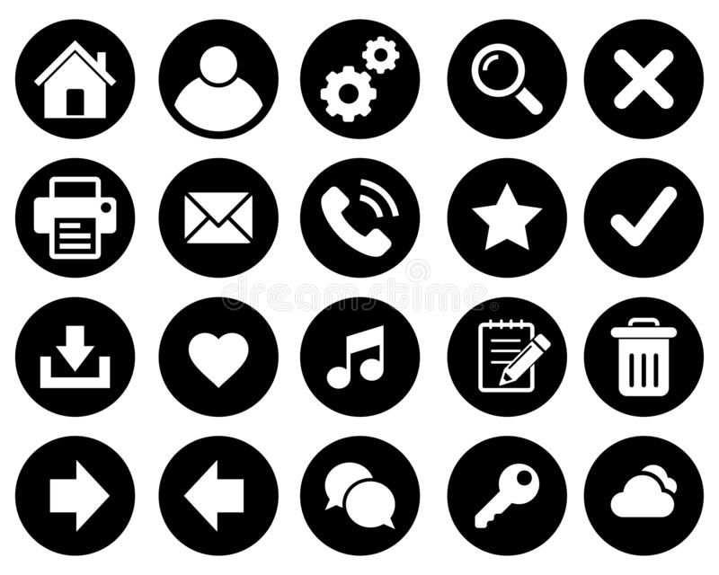Basic web icons vector illustration