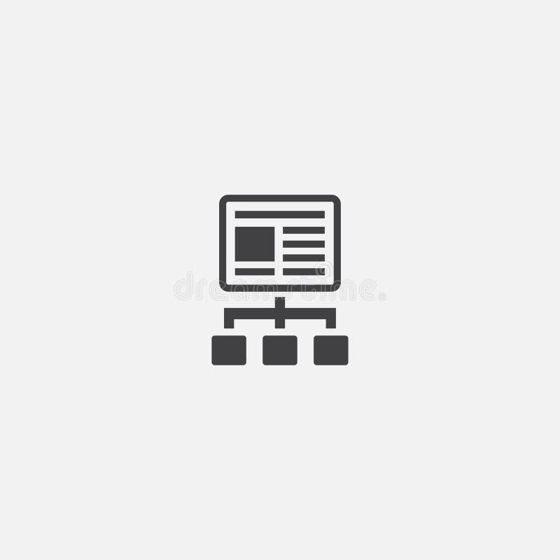 Basikon för innehållsplan Enkelt tecken stock illustrationer