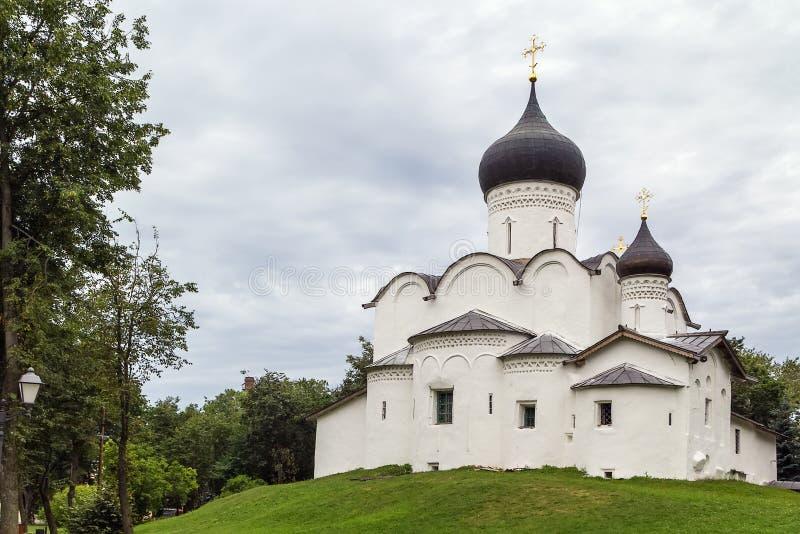 Basil Church no monte, Pskov foto de stock royalty free