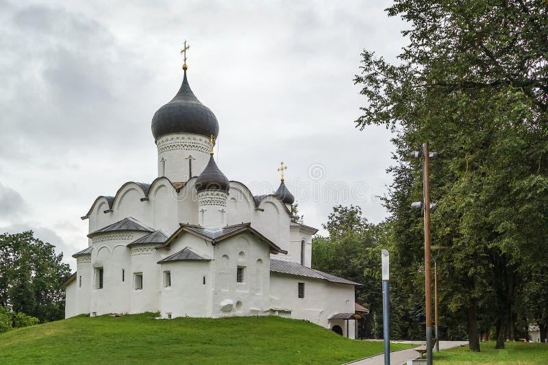 Basil Church no monte, Pskov imagens de stock