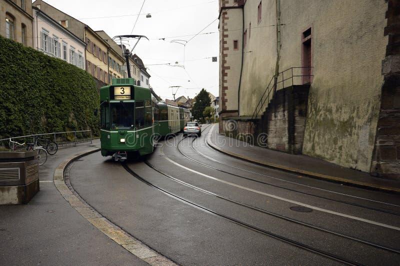 Basilea - opinión de la calle imagenes de archivo