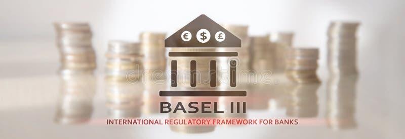 Basileia 3 Estrutura reguladora internacional para bancos Regulamento bancário financeiro fotografia de stock royalty free