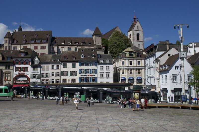 Basileia, Suíça, Barfuesserplatz fotografia de stock