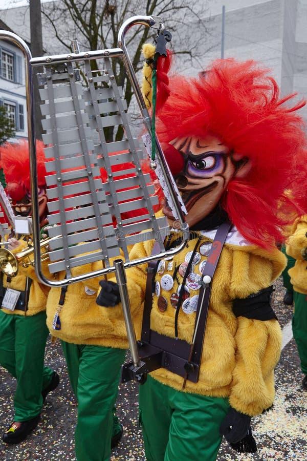 Basileia (Suíça) - carnaval 2016 foto de stock royalty free