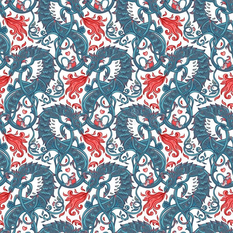Basilic magique mythologique de bête, créature bizarre légendaire S illustration libre de droits