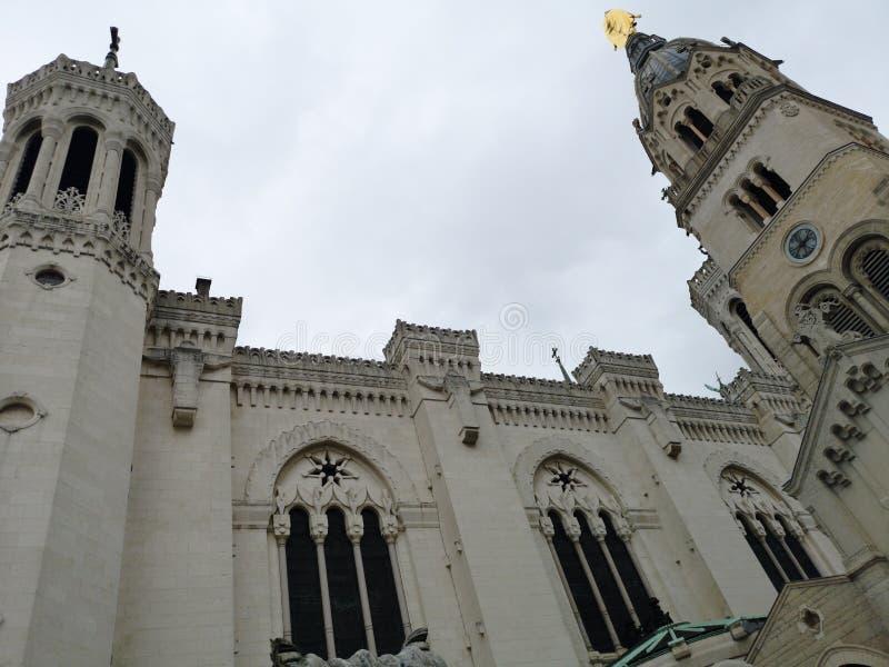 Basilic Notre-Dame de Fourvière, Lyon, Frankreich stockfotos