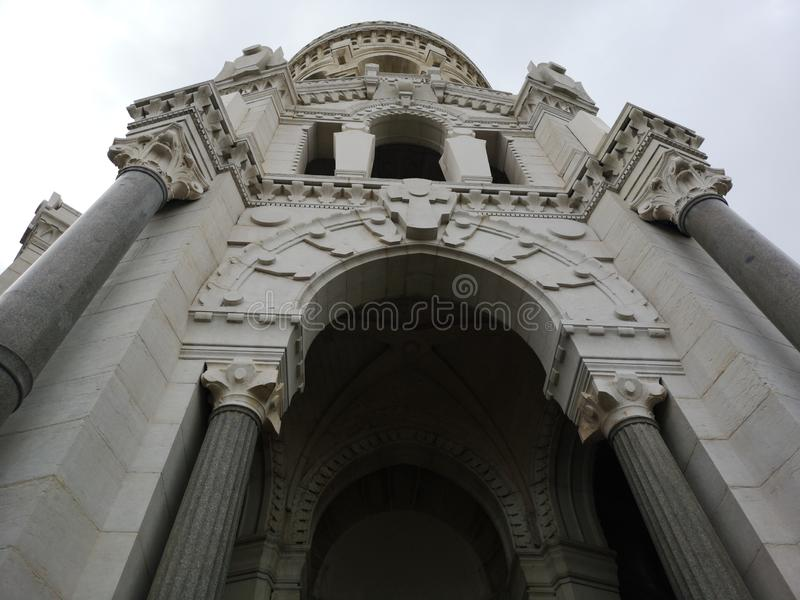 Basilic Notre-Dame de Fourvière, Lyon, Frankreich lizenzfreies stockbild