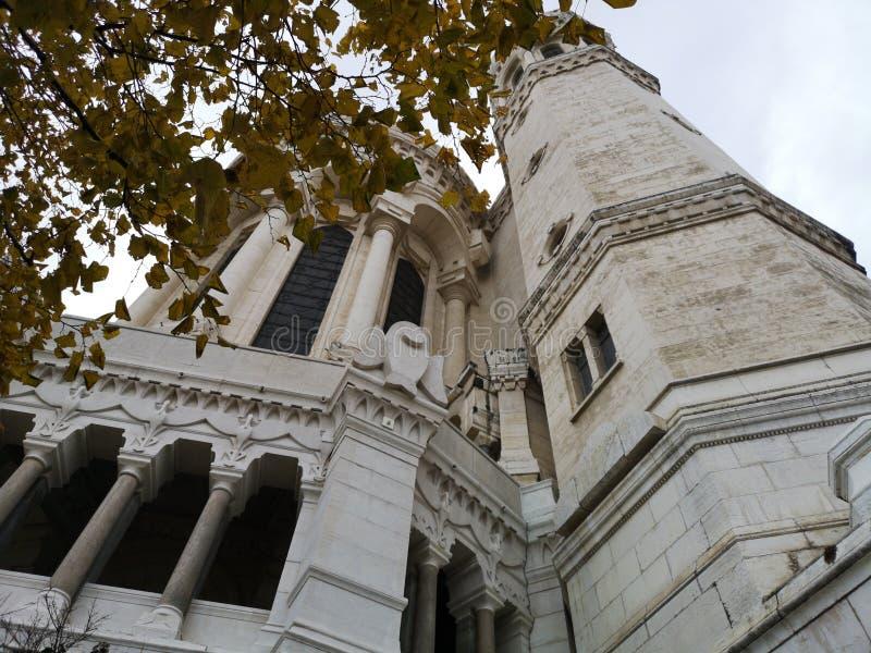 Basilic Notre-Dame de Fourvière, Lyon, Frankreich lizenzfreie stockbilder
