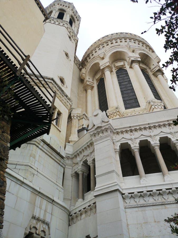 Basilic Notre-Dame de Fourvière, Lyon, Frankreich stockbilder