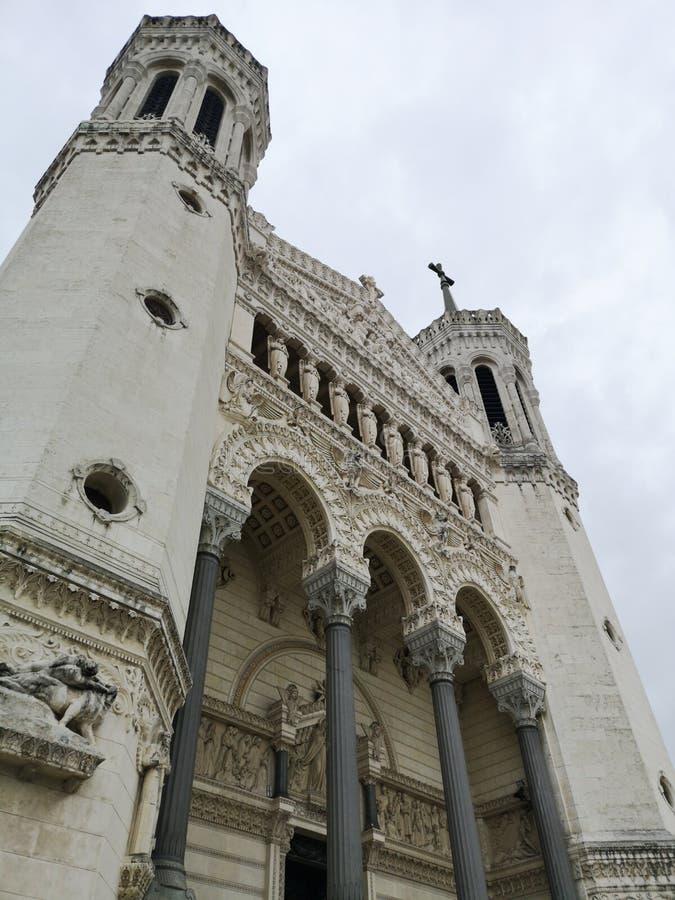 Basilic Notre-Dame DE Fourvière, Lyon, Frankrijk royalty-vrije stock afbeeldingen