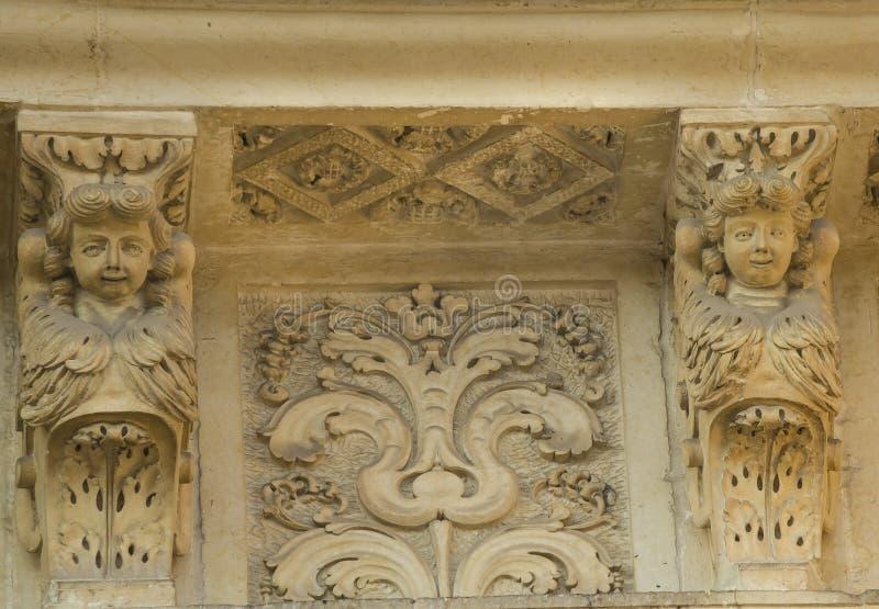 Basilic of Saint irene. Lecce,datail of the Saint Irene basilic royalty free stock image
