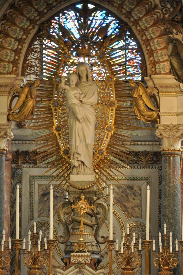 basilica κυρία de fourviere Γαλλία Λυών notre στοκ εικόνες