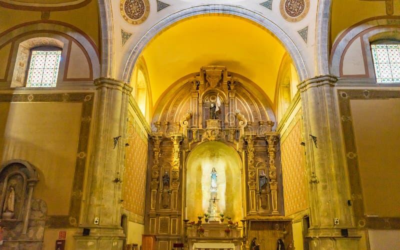 Basilica Altar Templo de la Compania Church Oaxaca Messico fotografia stock libera da diritti