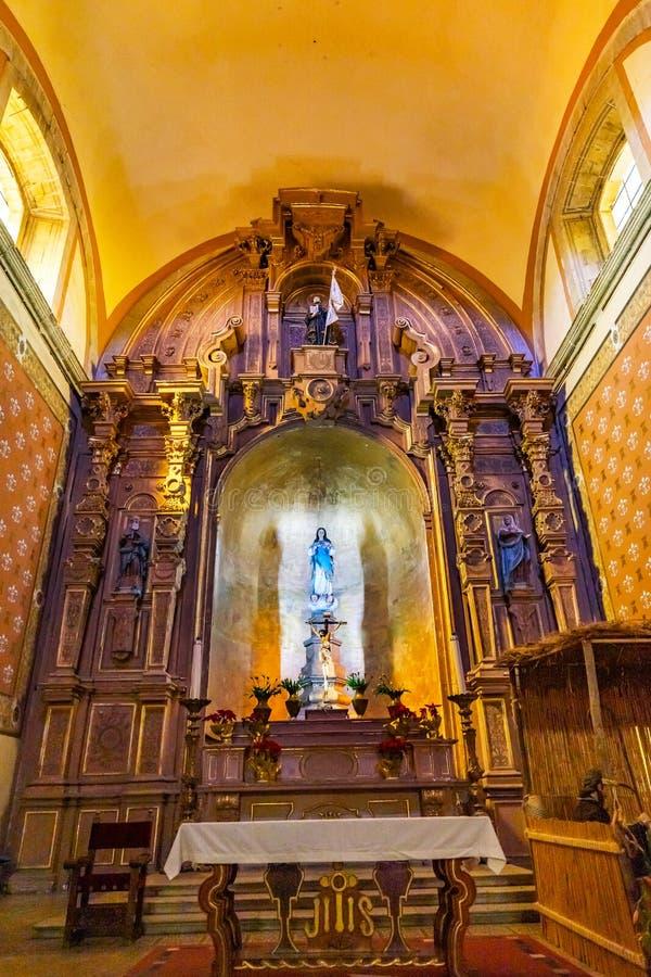Basilica Altar Templo de la Compania Church Oaxaca Messico immagini stock libere da diritti
