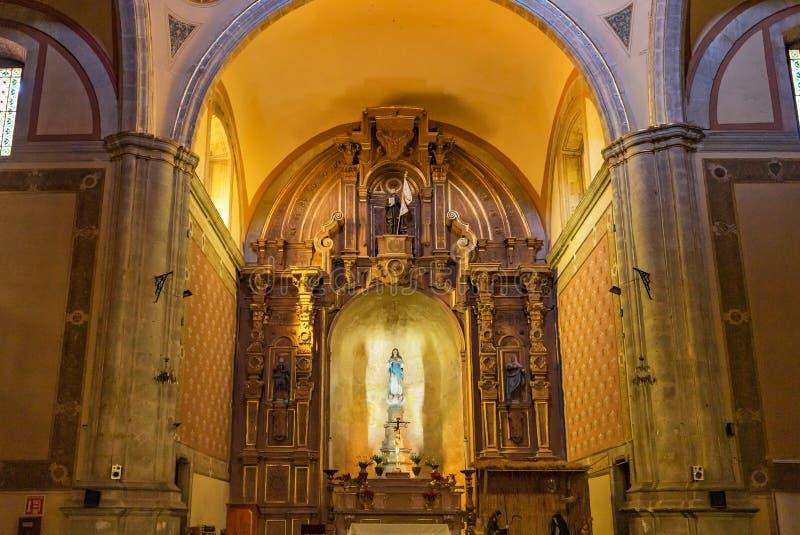 Basilica Altar Templo de la Compania Church Oaxaca Messico immagine stock libera da diritti