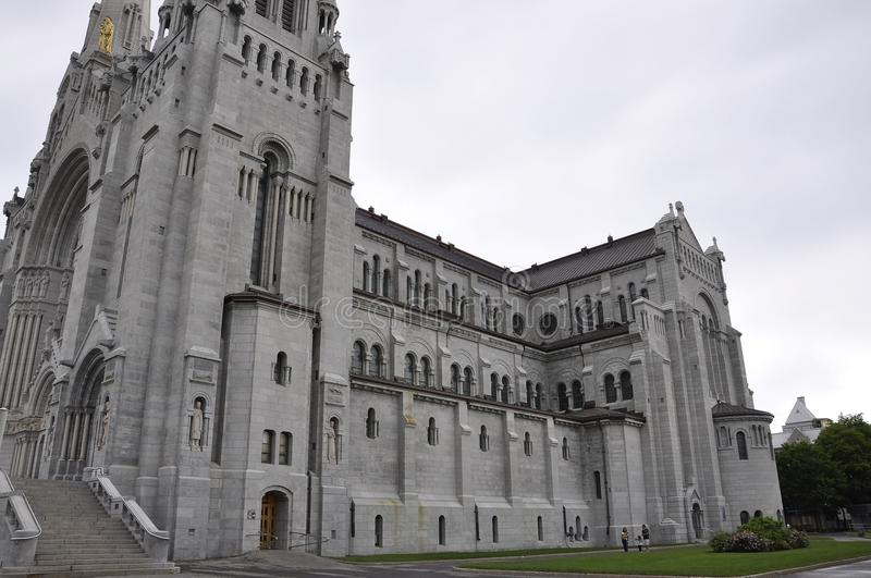 Basilica Anne-de-Baupre building from Quebec province in Canada. On 27th June 2017 royalty free stock images