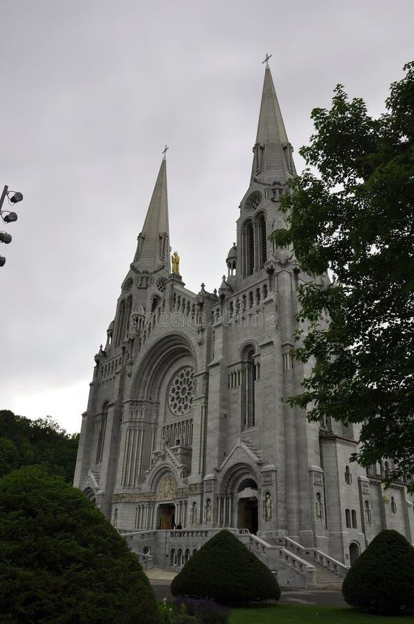 Basilica Anne-de-Baupre building from Quebec province in Canada. Basilica Anne-de-Baupre building details from Quebec province in Canada on 27th June 2017 stock photo