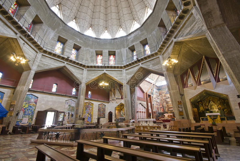 Basilica of the Annunciation in Nazareth, Israel stock photography