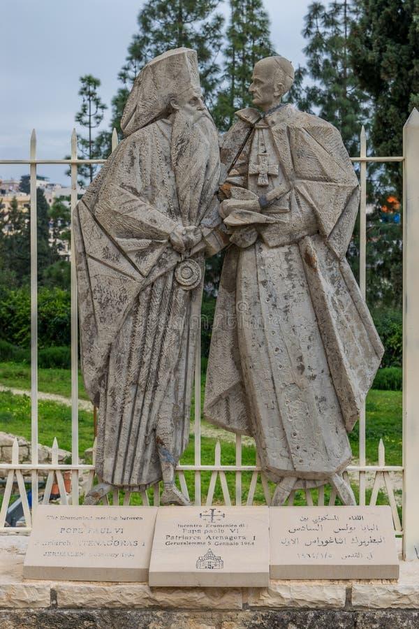 Statue of reconciliation stock photos