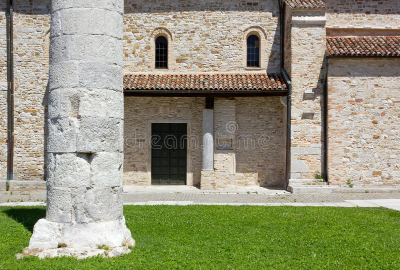 Download Basilica of Aquileia stock photo. Image of lawn, religious - 25899196