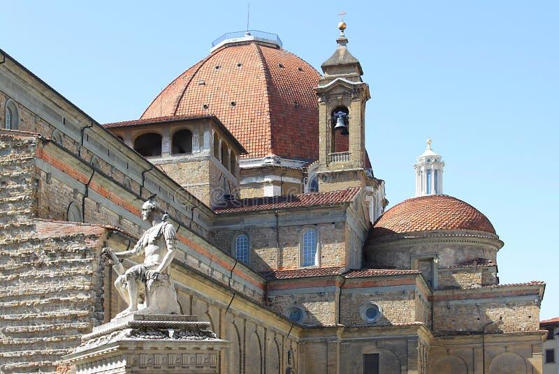 Basilica av San Lorenzo, Florence royaltyfri fotografi