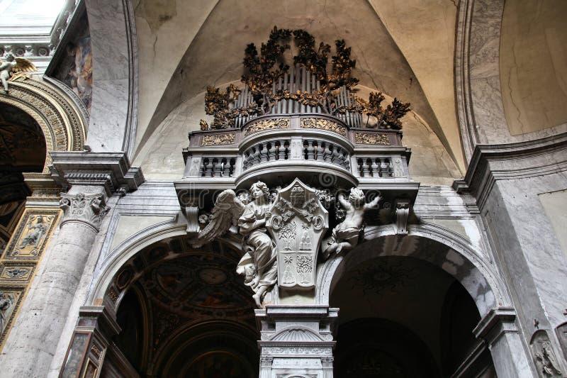 Basilica av Santa Maria del Popolo arkivbild