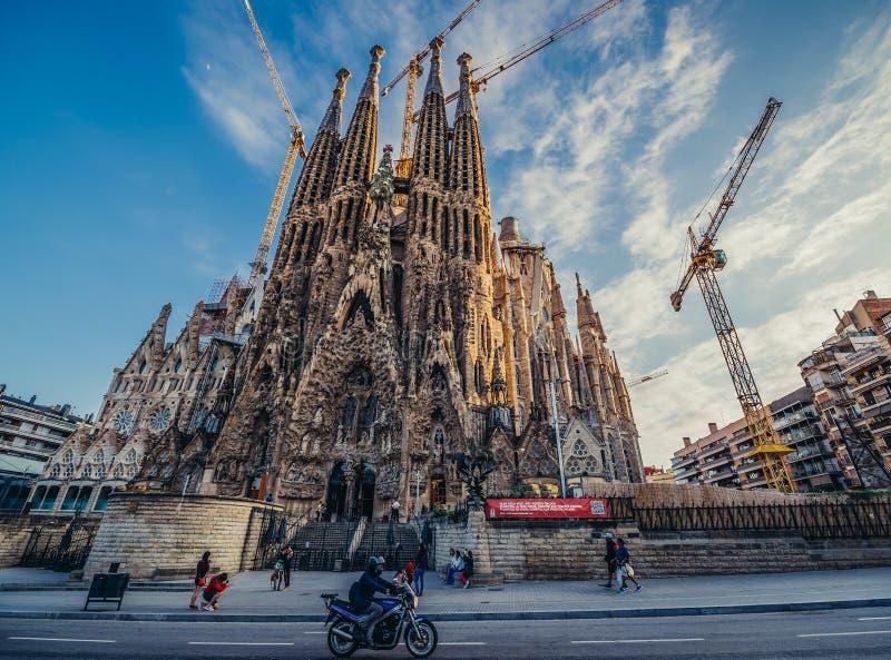 Basilica in Barcelona stock photography