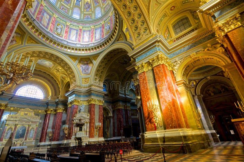 basilica budapest royaltyfri foto