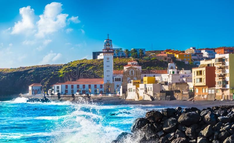 Basilica of Candelaria on Tenerife stock photography