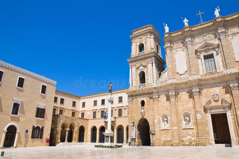 Basilica Cathedral of Brindisi. Puglia. Italy. stock image