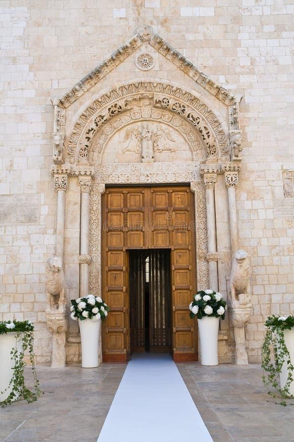 Basilica Cathedral of Conversano. Puglia. Italy. Detail of the Basilica Cathedral of Conversano. Puglia. Italy stock image
