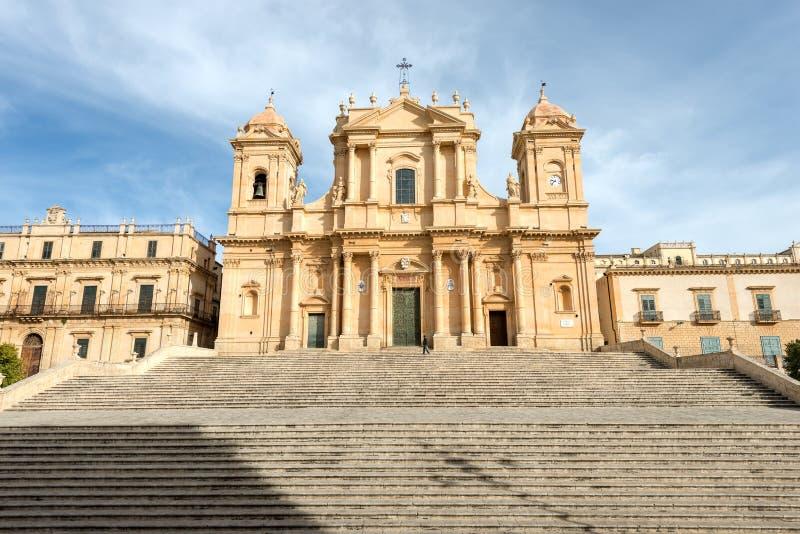 Cathedral of San Nicolo - Noto Sicily Italy stock photo