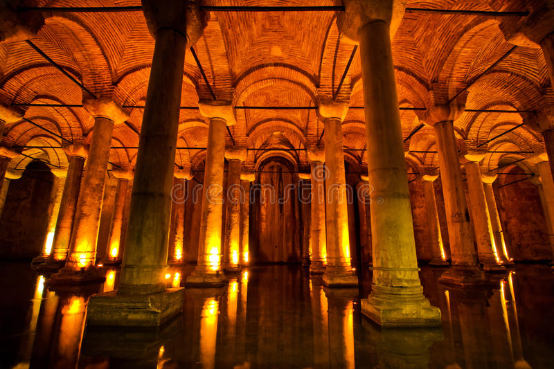 Basilica Cistern in Istanbul, Turkey royalty free stock photography