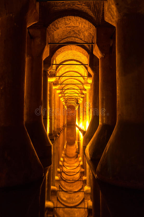 Basilica Cistern. Underground Basilica Cistern Istanbul Turkey stock image