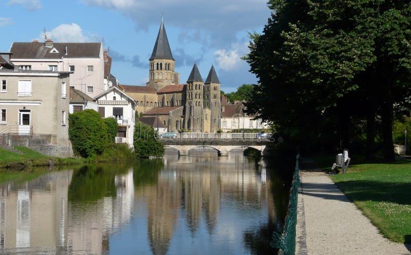 basilica coeur du le monial paray sacr 库存照片