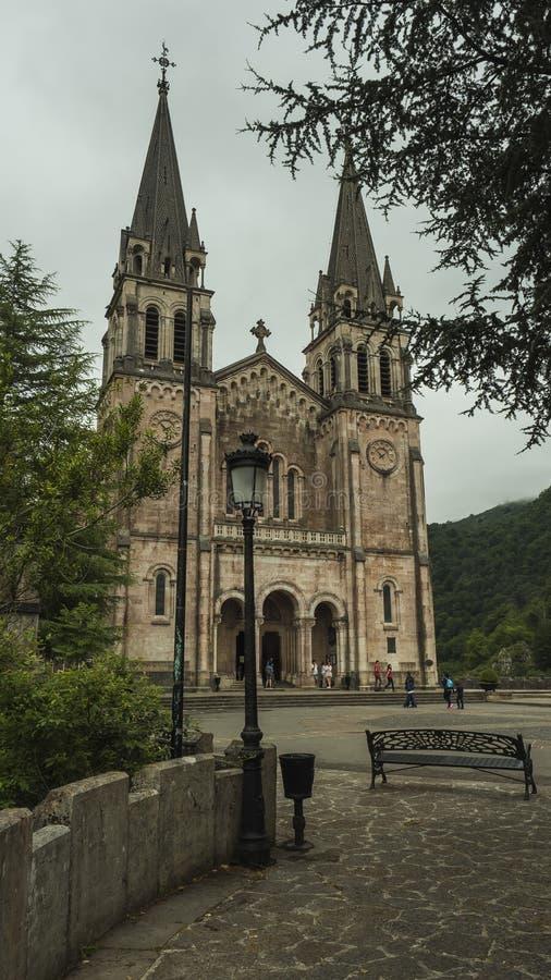 Basilica of Covadonga, Asturias,Spain stock photography