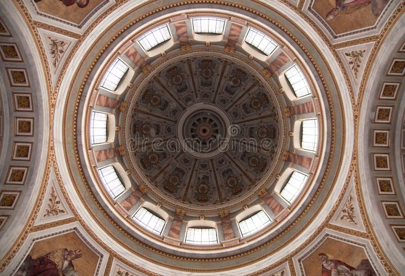 Basilica cupola. Basilica tower cupola in Esztergom - Hungary stock photography