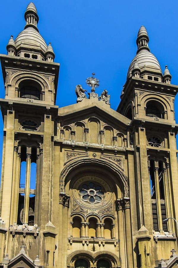 Basilica de los Sacramentinos门面  库存照片
