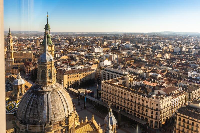 Basilica de Nuestra Señora del Pilar Cathedral in Zaragoza, Spain stock photos