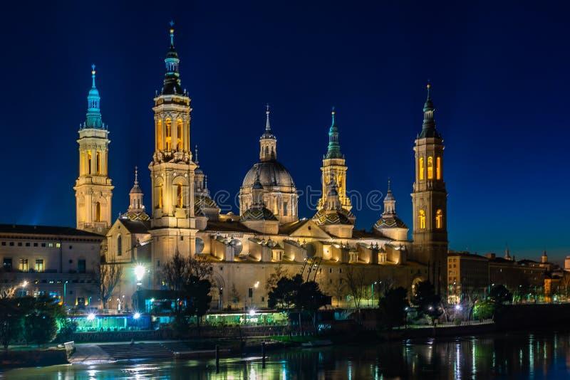 Basilica de Nuestra Señora del Pilar Cathedral in Zaragoza, Spain stock image