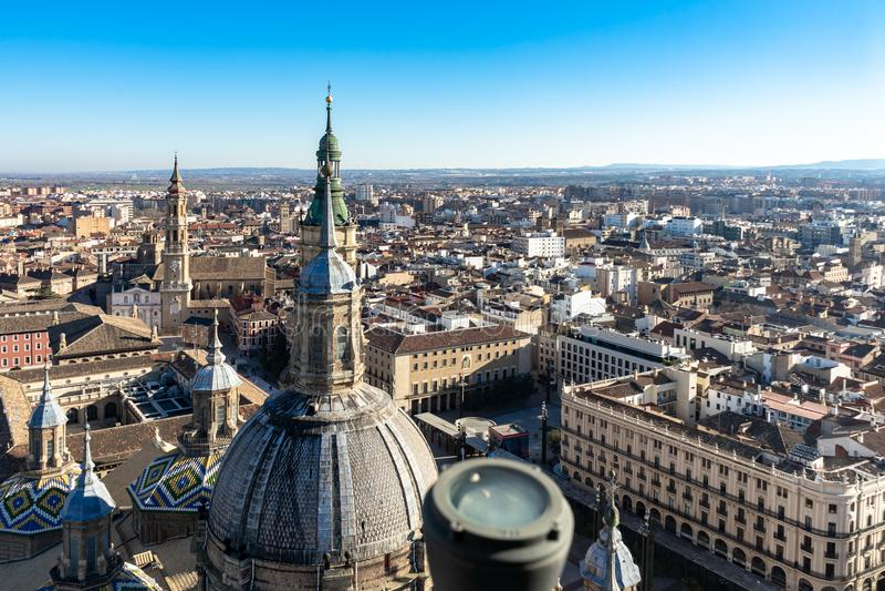 Basilica de Nuestra Señora del Pilar Cathedral in Zaragoza, Spain royalty free stock images