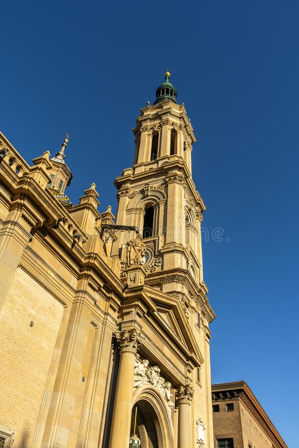 Basilica de Nuestra Señora del Pilar Cathedral in Zaragoza, Spain royalty free stock photo