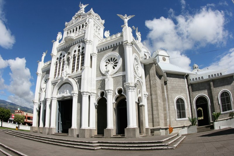 Basilica de Nuestra Senora de los Angelos Cartago stock photo
