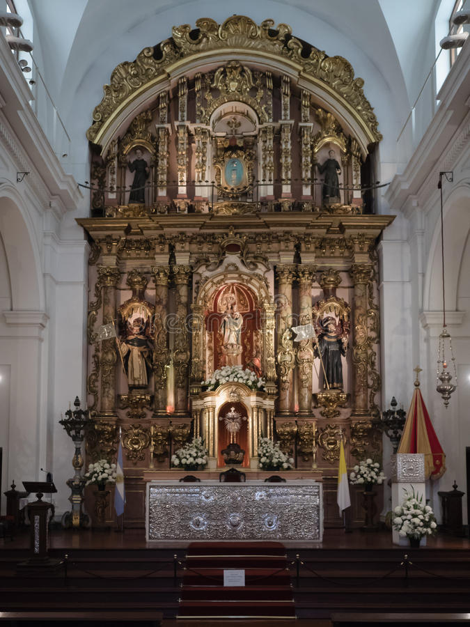Basilica DE Nuestra Senora del Pilar, Buenos aires, Argentinië royalty-vrije stock foto's