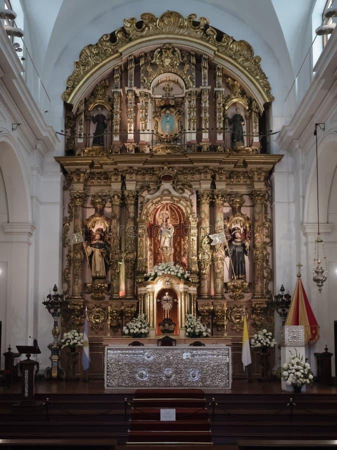 Basilica de Nuestra Senora del Pilar, Buenos Aires, Argentinien lizenzfreie stockfotos