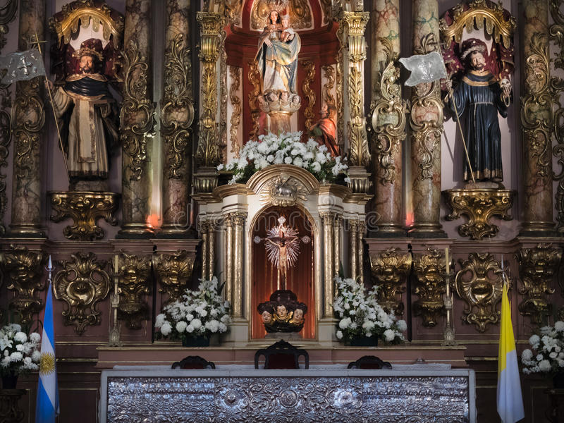 Basilica de Nuestra Senora del Pilar, Buenos Aires, Argentinien lizenzfreies stockbild